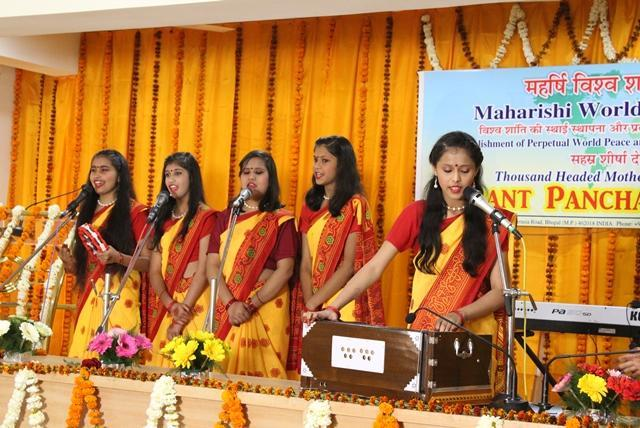 Basant Panchmi Celebration was organised by Sahsrasheersha Devi Mandal-Ladies Wing of Maharishi World Peace Movement.