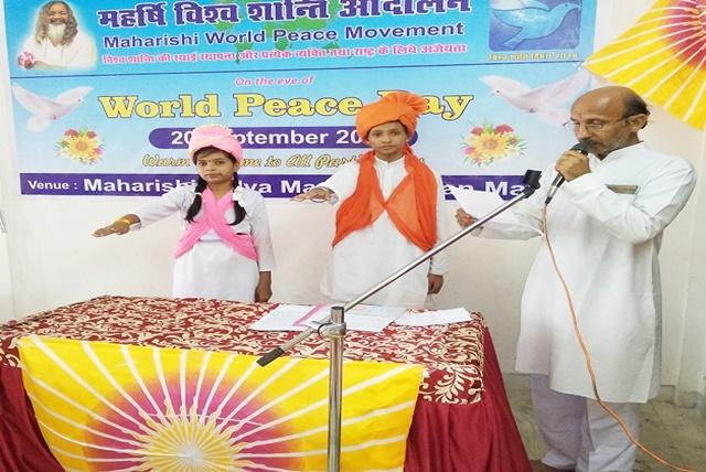Celebration of Maharishi World Peace Day at MVM Jabalpur.4 we gracefully celebrated the occasion of Maharishi World Peace Movement.