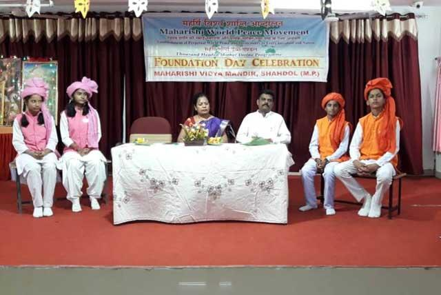 With pious and glorious blessings of His Holiness Maharishi Mahesh Yogi ji and under the worthy guidance and protection of Hon'ble Chairman Brahmachari Guirish Chandra Verma Ji, Maharishi Vidya Mandir Shahdol celebrated World Peace Day on 21st Sep. 2019 under the banner of World Peace Movement.