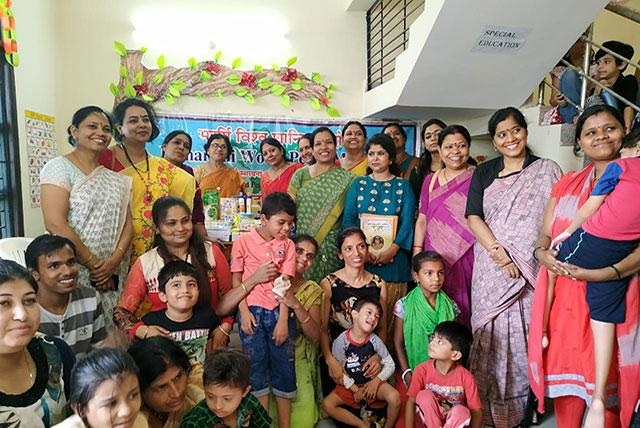 Sahasrasheersha Devi Mandal female wing of Maharishi World Peace Movement, Bhopal chapter visited Cerebral Palsy Association of India, Bhopal on Wednesday 26th June 2019 and distributed essentials to the children.