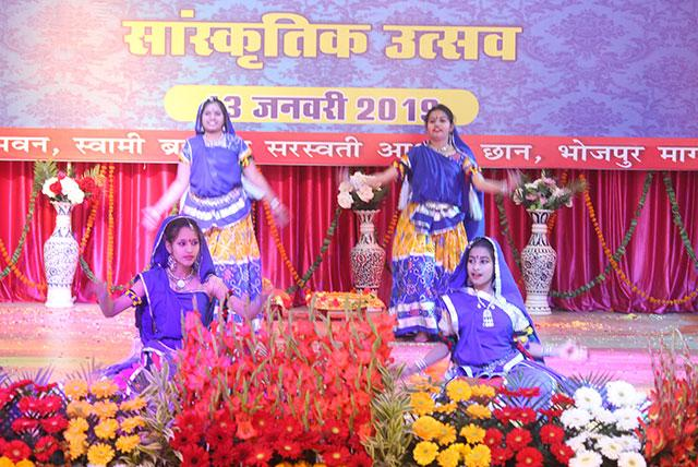 Students of MVM performing 'Haryana Dance' during Sanskriti Diwas Celebration 2019.