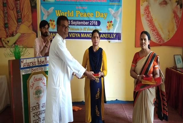 Celebration of Maharishi World Peace Day at MVM Bareilly we gracefully celebrated the occasion of Maharishi World Peace Movement.